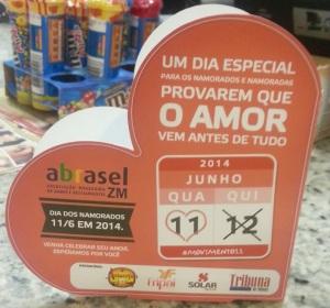 Campanha da Abrasel para a comemoração do Dia dos Namorados no dia 11 de junho. Foto: Jéssica Ribeiro